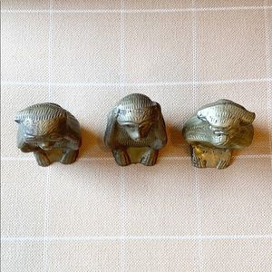Vintage Accents - Vintage Brass Wise Monkey Figures